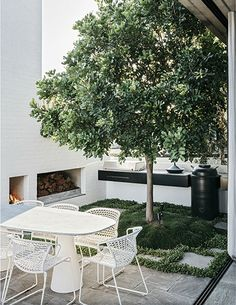 Does your outdoor area get neglected during the colder winter months Be inspired by this gallery of 10 winter ready outdoor spaces to make some quick and easy adjustments. Gazebos, Small Courtyards, Outdoor Retreat, Outdoor Areas, Indoor Outdoor, Plants Indoor, Small Outdoor Spaces, Outdoor Fire, Outdoor Landscaping
