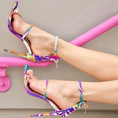 Floral Strappy Single Sole Sandals
