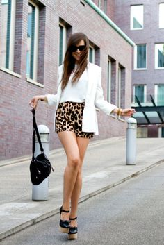 black, white and leopard