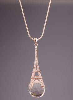 Gold Diamond Eiffel Tower Necklace http://www.sheinside.com/Gold-Diamond-Eiffel-Tower-Necklace-p-165320-cat-1755.html