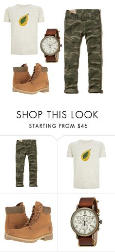 """""""Sem título #28"""" by letybaby on Polyvore featuring Hollister Co., Ultra Tee, Timberland, Timex, men's fashion e menswear"""