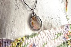 Pendant with quartz. Copper pendant. Quartz. by AcoyaJewellery