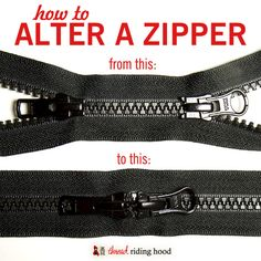Change a Double Zipper to Close in the Centre {tutorial}