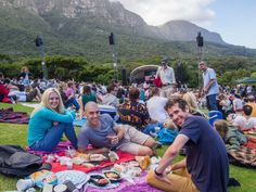 A picnic with friends at a summer concert in Kirstenbosch Garden, Cape Town Stuff To Do, Things To Do, Good Things, Africa Travel, Picnics, Cape Town, South Africa, Safari, Dolores Park
