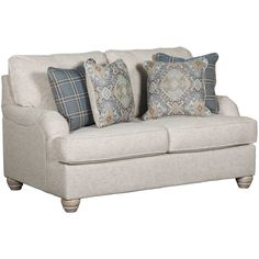 Traemore Linen Loveseat by Ashley Furniture is now available at American Furniture Warehouse. Shop our great selection and save! Living Room Upholstery, Upholstery Trim, Furniture Upholstery, Den Furniture, Upholstery Cushions, Upholstery Cleaning, Types Of Sofas, Chair And A Half, Linen Sofa