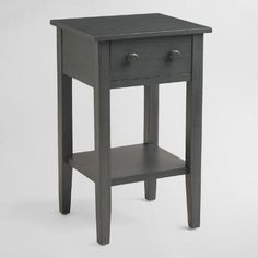 Crafted of hardwood, our Tobacco Blue Sara Nightstand is simple yet stylish, and ready to be personalized. Its distressed gray-blue finish is a refreshing neutral option highlighted by varying grains for added depth. Customize for a look all your own by choosing from our exclusive assortment of decorative drawer hardware. Classic or modern, sophisticated or fun, the options are endless and entirely yours.