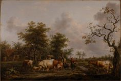 Balthasar Paul Ommeganck (1755-1826) - Scenario - 1776 - Arp Museum Rolandseck Bahnhof (Germania), collezione Rau per l'UNICEF .