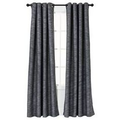 Update your home decor with the Threshold uptown stripe window panel that blocks outside light. With a grommet top, the curtain is easy to hang from a rod (sold separately). Target Curtains, Grey Curtains, Curtains With Blinds, Panel Curtains, Grommet Curtains, Light Blocking Curtains, Shades Blinds, Metal Wall Decor, Window Panels