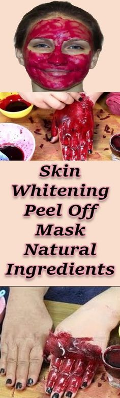 Skin Whitening Peel Off Mask Natural Ingredients