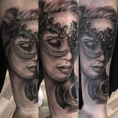 check out these 30 creative examples of Venetian mask tattoos put together for your inspiration - a dramatic way to reveal your theatrical side.