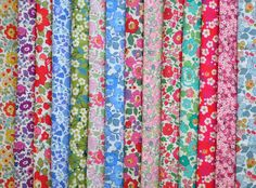 "14 LIBERTY of London fabric Tana Lawn 5"" x 5"" Patchwork Charm Squares -Mitsi,Betsy,Danjo"