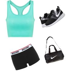Sports Outfit by purplesparkle6502 on Polyvore featuring polyvore fashion style Moschino NIKE