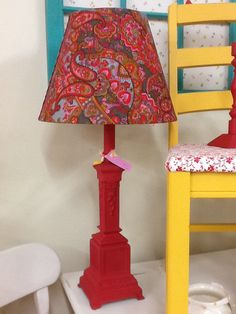 Updated lamp and shade $29