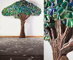 Trees made of books by Frederico Uribe
