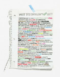 Why You Shouldn't Buy Art, by William Powhida - 20x200 (from $24)
