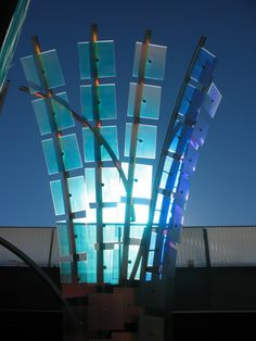 Sculpture at the Denver Botanic Gardens.