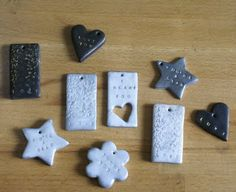 I love the idea of stamping into clay instead of metal. Of course, I possess no metal stamps.