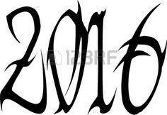 Happy New Year 2016 on a white background