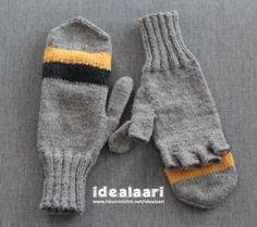 Kynsikkäät ohje Knitting Socks, Knit Socks, Baby Knitting Patterns, Mittens, Diy And Crafts, Projects To Try, Gloves, Inspiration, Tulips