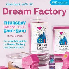 These candles and tarts make an awesome gift. Each one comes with your choice of jewelry, a limited edition pin, and 20% of the sales is donated to Dream Factory to help make a terminally or chronically I'll child's wish come true.  https://www.jewelryincandles.com/store/loving-candles/c/133/jic-gives-back/