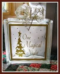 Image result for glass block crafts for christmas