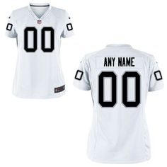 oakland raiders jersey womens white custom game jersey