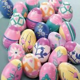 Bright Floral Stripe Easter Egg Set