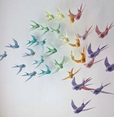 incríveis trabalhos de origami