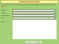 tipos de formularios para la clase de espanol - Google Search