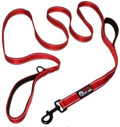 Dog Leash 2 Handles Extra Long 8ft Lead Heavy Duty Double Handle Greater Cont... #PrimalPetGear