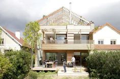 Roof gardens and patio space in a Parisian eco home.