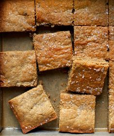 Tahini Blondies These golden-brown beauties have a subtle caramel flavor, and are delightfully moist and chewy thanks to the addition of tahini. Köstliche Desserts, Delicious Desserts, Dessert Recipes, Yummy Food, Plated Desserts, Pavlova, Biscuits, Dessert Bars, Baking Recipes