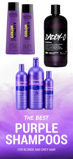 the best purple shampoos for blonde and grey hair - All For Hair Color Trending Purple Shampoo For Blondes, Best Purple Shampoo, Purple Shampoo And Conditioner, Lila Shampoo, Shampoo For Gray Hair, Hair Shampoo, Red Blonde Hair, Grey Hair, Oily Skin Care