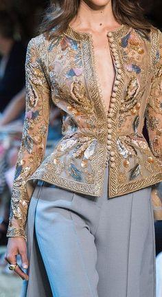 Elie Saab Fashion Show Details Elie Saab Couture, Couture Mode, Couture Fashion, Hijab Fashion, Runway Fashion, Fashion Dresses, Mode Outfits, Chic Outfits, Moda Fashion