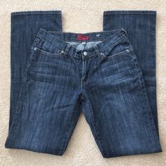 """Blue Cult - Kate Jeans Blue Cult - Kate Jeans.  Super cute and in like new condition!  98% cotton, 2% spandex / size 28 x 33, 17"""" leg opening.  Thanks for looking! Blue Cult Jeans Straight Leg"""