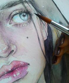 #Процесс #акварель #Детали #рисунок #живопись #process #watercolor #painting  и и