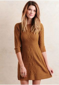 Lost In Love Sweater Dress In Amber | Modern Vintage Dresses | Modern Vintage Clothing | Ruche
