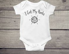 Dungeons and dragons Dnd Shirts, Cute Onesies, Funny Outfits, Baby Gear, Baby Bodysuit, Dungeons And Dragons, Baby Gifts, Infant, One Piece