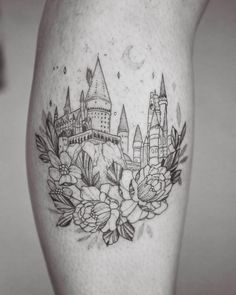 """1,988 Likes, 38 Comments - Phoebe Hunter (@phoebej_tattoos) on Instagram: """"Hogwarts castle done for a fellow Phoebe. Thanks for coming! ✨✨✨ . . . . #hogwarts #harrypotter…"""""""