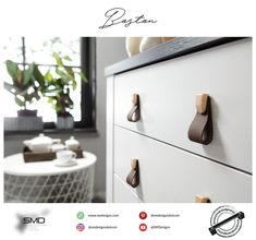 Boston Leather Knob ❤️  Leather Handles and Knobs Available in Fake Leather and Real Leather. For Urban Life Powered By SMD.  #handles #knobs #furniture #trendy #smd #leather #urban_life #leather_handles #leather_knobs #handlesandmuchmore