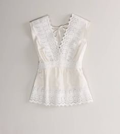 AE Festival Eyelet Top | American Eagle Outfitters