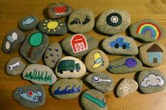a happy wanderer: story stones...