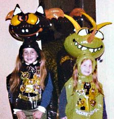 Kooky Spooks inflatable Halloween costumes. I believe these came out around 1979/1980. I had the one on the left! (pic found on Google, neither of these are me)