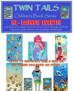 Our TWIN TAILS Book Series Re-Launch Event has begun...Monday, October 30th with the first of 4 contest giveaways  from 10/30/17 to 11/03/17)! Check our website's contest page for ongoing details on how to participate in this family-friendly fun...and encourage family & friends to join in too:   http://cillyart4u.wixsite.com/cillyart4u/cillyart4u-contests   ...or go directly to...   http://www.rafflecopter.com/rafl/display/7b0650a01/?   TWIN TAILSContest #1: MER or SEA Towel Giveaway!