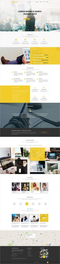 Swan is a very elegant and interactive #PSD #Template for #business companies websites with 14 unique homepage layouts and 30 organized PSD pages download now➩ https://themeforest.net/item/swan-company-portfolio-multipurpose-psd-template/17273852?ref=Datasata