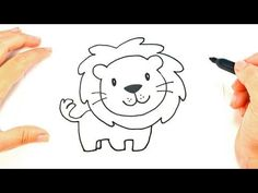 How to draw a Lion in easy steps for children, kids, beginners .Step by step. - YouTube #stepbystepfacepainting