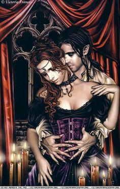VAMPIRE LOVE. Victoria Frances art