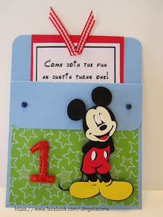 Mickey Mouse Birthday Invite I could use this idea for Mags' bday invite.