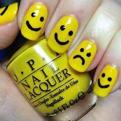 smiley nails