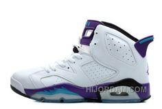 ea9a7e0ecb1f58 Women Air Jordan 6 Retro GS White Grape Online For Sale XpiZ6